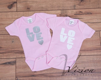 newborn onesie love, baby onesie personalized, newborn outfits, newborn clothing, cute onesie, onesie with sayings, t-shirts,