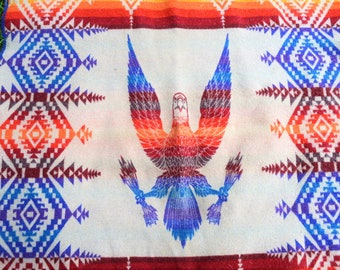 Distressed Vintage Pendleton Geometric Native Southwest Blanket - Supplies - For Projects!