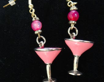Happy Hour Earrings- Martini