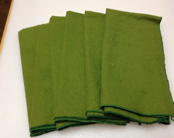 Linen Napkins with Rolled Hem Edge 17 inch Rustic  Set of 6