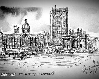 Mumbai in Classic Black and White