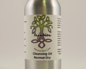 Cleansing oil normal to dry skin, facial cleanser, removes makeup, free of chemicals