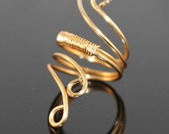 Fanciful Swirls Wire Wrapped Ring in 12K Gold Filled