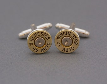 Choice 45 Auto Bullet Cuff Links-Winchester 45 Auto Cuff Links-Federal 45 Cuff Links-RP 45 Cuff Links-Speer 45 Cuff Links-Blazer 45 Auto