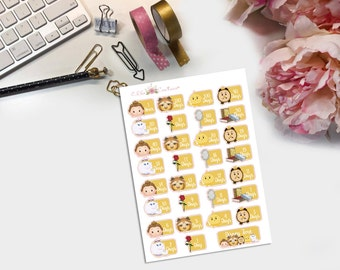 Belle Countdown to Disney Planner Stickers
