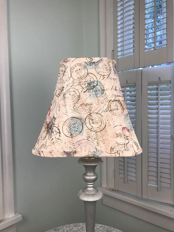 French lamp shade french postage lamp shade tapered square aloadofball Image collections