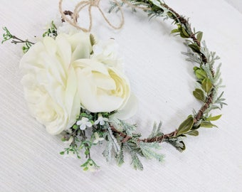 Flower Crown, Silk Flower Crown, Wedding Flower Crown, Flower Halo, Bridal Flower Crown, Flower Headpiece, Succulent Crown, Head Wreath