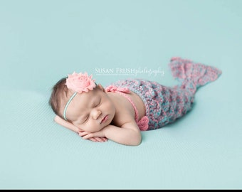 Crocheted Mermaid Tail Newborn Mermaid Outfit Baby Photo Prop Baby Mermaid Photo Prop
