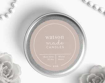 Canning labels, custom candle label, labels for candles, premade label, Round custom sticker labels, logo stickers, custom product stickers
