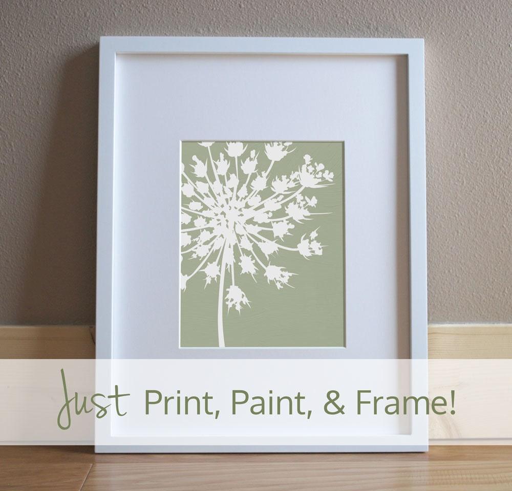 DIY Painting Pattern - Printable Pattern Download - Botanical Art ...