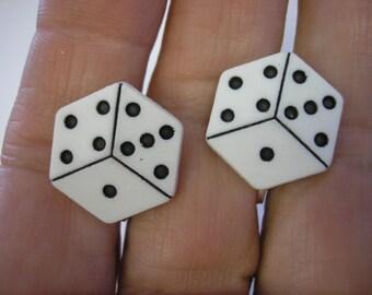 """Dice Earring - Clip or Pierced - 5/8"""" - Play Earring"""