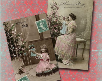 Vintage Christmas Collage Sheet 2