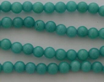 10 jade diameter 4mm Green luster beads
