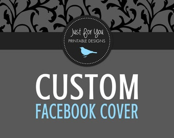 Custom Graphic Design - Facebook Page or Group Timeline Cover and Icon - DIGITAL FILES