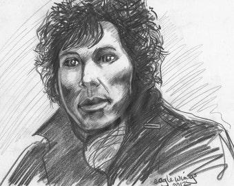 Early Sherlock sketch, pencil sketch, original art, Sherlock BBC