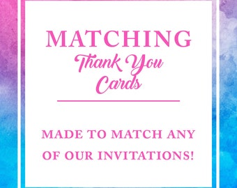 Made to Match - Thank You Card - Birthday Party DIY Printable Sign