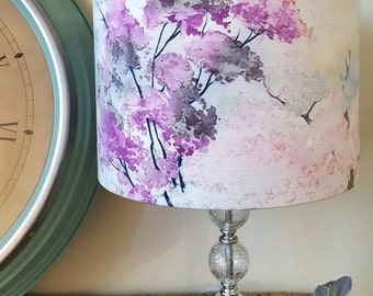 Lamp shades etsy uk watercolour tree lampshade drum lampshade tree lamp shade cherry blossom lampshade lampshades mozeypictures Images