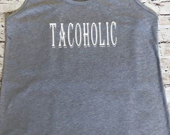 Tacoholic Racer Back Tank Top Fitness Tank Workout Top Yoga Top