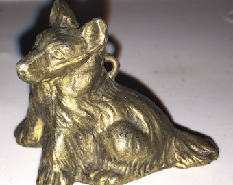 Art Deco Metal Dog Figurine Miniature Corgi ?