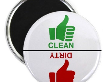 Stopight Thumbs Clean Dirty Dishwasher Magnet