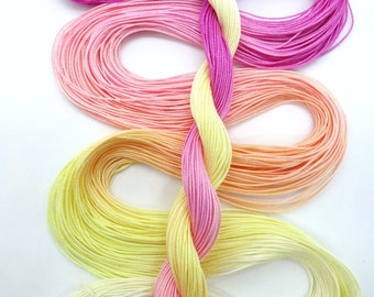 "Size 20 ""Peace"" hand dyed thread 6 cord cordonnet tatting crochet cotton"
