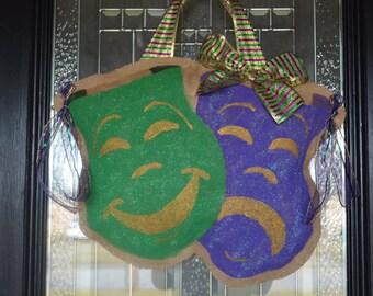 Mardi Gras burlap Door Hanger & Snowball Burlap Door Hanger