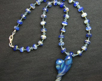 Lampwork Heart Necklace