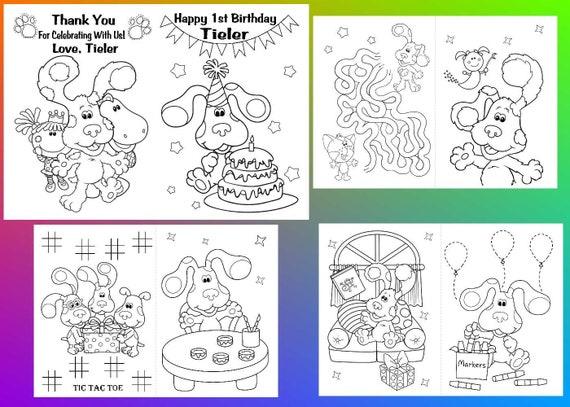 Blues Clues Party coloring pages Blues Clues party favor