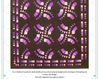 Purple Passion Quilt Pattern by Curlicue Creations Quilting Pattern Queen Size Quilt Pattern