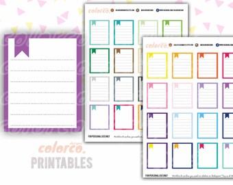 Full Box List Printable Planner Stickers Erin Condren Happy Planner Inkwell Plum Paper Instant Digital Download