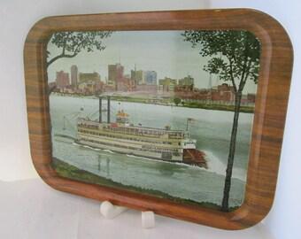 Belle of Louisville KY Paddleboat Souvenir Metal Tray Steamboat tray Paddleboat tray Louisville souvenir Bank promotion Louisville icon