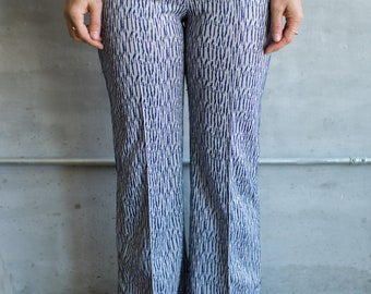 Vintage Patterned Bell Bottom Pants
