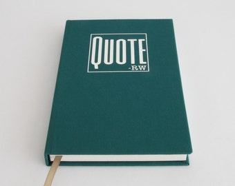 Quote Book - Notebook to Keep Quotes - Unique Dad Gift / Mum Gift - Gift Idea for Bookworm