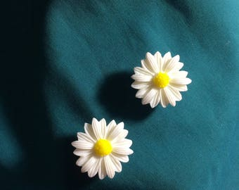 Cute Dainty White DAISY Daisies Flowers Clog Shoe Charms