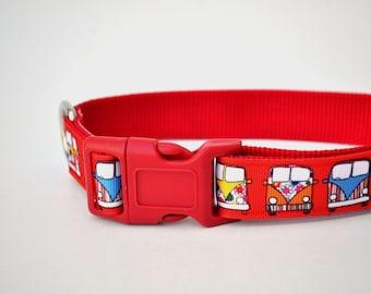 Dog Collar - Campervan - 50% Profits to Dog Rescue