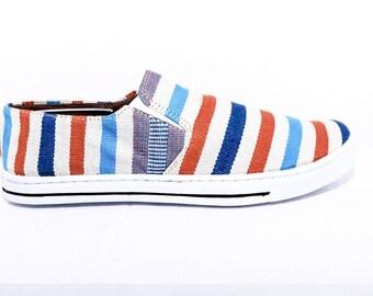 Aqua Tangerine Mayan Shoes
