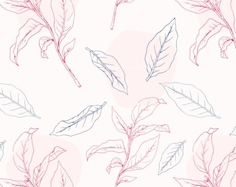 Gift Wrap: Pink Leaves