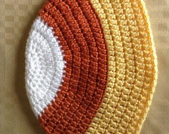 Crocheted Candy Corn Beanie