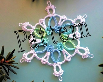 Tatting Pattern snowflake PDF Instant Download