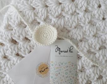 Baby Blanket, Cotton Crochet Baby Blanket, Baby Gift Birth, Newborn photo prop, Unique Cotton Baby Blanket, Chunky Knit Blanket, Cotton