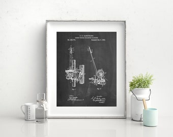 Bobbin Winder for Sewing Machines Poster, Sewing Machine Patent, Sewing Machine Print, Sewing Macine Art, Sewing Machine Blueprint, PP0747
