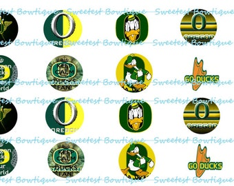 Oregon Ducks Instant Download 1 inch bottle cap images