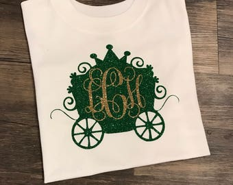 Cinderella Carriage, Cinderella Carriage Intials, Disney Princess, Disney Shirt, Mickey Shirt