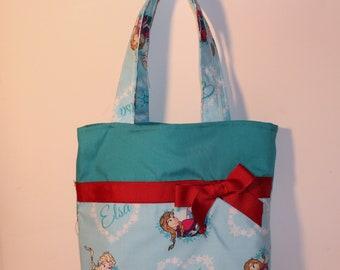 Elsa Purse,  Small Tote , Little Girls Purse, Snack Bag, Diaper Bag, Party Favor, Handmade Little Girls Purse!