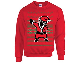 Dabbing santa ugly christmas Sweater , Xmas Sweater, Christmas party, Holiday gift, dab