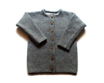 Babies/Children's merino wool round neck cardigan/round collar/crew neck/sweater/vest