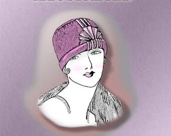 Downton Abbey 1920s Flapper Ribbon Cloche Hat Pattern 20s Dress Easy