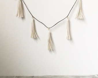 Leather Tassel Garland