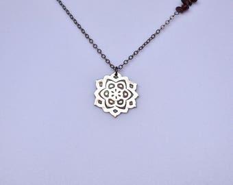 Silver Mandala Necklace Hippie Jewelry Boho Jewelry Unique Silver Jewelry Handmade Silver Jewelry