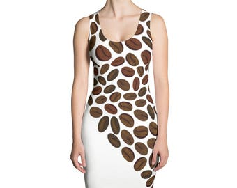 Sublimation Cut & Sew Coffee Beans Dress